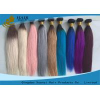 Buy cheap 100% Human Colored Virgin Hair Extensions Full Cuticle Hair Weave from wholesalers