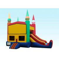 Cheap 22Ft Rainbow Module Castle Inflatable Bouncer Combo With Digital Printing wholesale