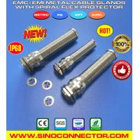 Cheap EMC/EMI/EMV Cable Glands with Stainless Steel Spiral Strain Relief wholesale