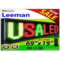 Cheap Outdoor Programmable LED Signs Multi Language , Wireless LED Scrolling Message Display Board wholesale