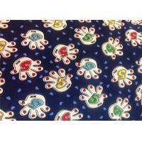 Blue Polyester Floral Custom Printed Fabrics Tear Proof Customized