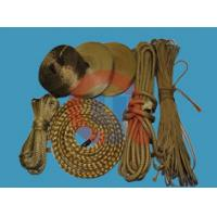Cheap Yellow Aramid Braided Rope , Fire Retardant Rope With 3mm - 4mm Diameter wholesale
