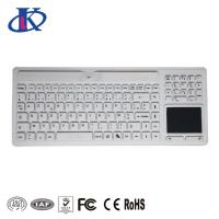 Buy cheap Wireless Waterproof Keyboard Silicone Medical Usage With Touchpad / Numeric Pad from wholesalers