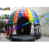 Crazy Air Music Commercial Bouncy Castles For Dancing Customized