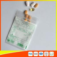 Cheap Tablet Drug Packaging Ziplock Pill Bags , Medicine Plastic Bag With Zip Seal wholesale