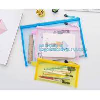 Cheap stationery within mesh PVC waterproof zipper document bag/ pvc folder, pp plastic file folder printable document bag wholesale