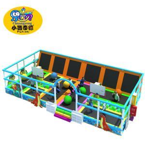 Children Bounce Indoor Trampoline , Rectangular Kids Giant Trampoline Park