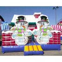 Cheap Inflatable Party Combo Jumping Castle Snowman Archway Christmas Moonwalk wholesale
