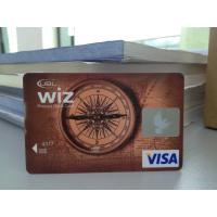 Cheap New Design VISA Smart Card / Prepaid Debit Card Plastic with HICO Mag-stripe wholesale