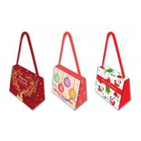 Cheap Decorative Unique Christmas Gift Bags 300 Gsm Herringbone Cotton Handle wholesale