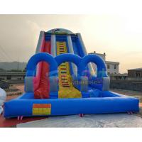 Cheap 0.55mm PVC Outdoor Inflatable Water Slide Into Pool  / Giant Slip N Slide wholesale