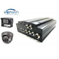 Cheap 4G LTE mobile dvr 4 channel with AHD / Analog camera , Anti vibration technology wholesale