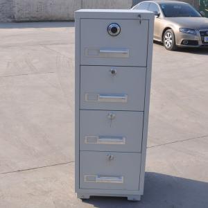 Cheap 2/3/4 Drawer Fireproof Vertical Steel Filing Cabinet Adjustable Suspension Slats wholesale