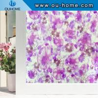 China H22047 Translucence removable films decorative embossed pvc static window film on sale