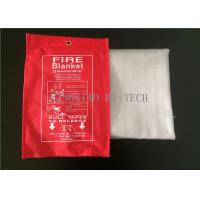 Cheap 550℃ Emergency Fiberglass Fire Blanket PU Coated Heat Resistant 0.4 - 3.0mm Thick wholesale