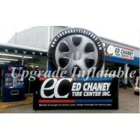 Cheap custom giant black and white advertising inflatable tire,inflatable tyre for sale wholesale