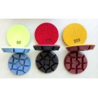 Cheap 3 Inch 75mm Colourful Concrete Floor Polishing Pads With 11mm Thickness wholesale