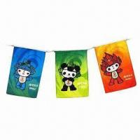 Cheap Bunting Flags, Made of Polyester/Paper/PE Materials wholesale