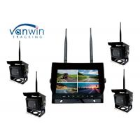 Cheap 2.4G 4CH Car Video Wireless DVR system 7 Inch Monitor With 128GB SD Card wholesale