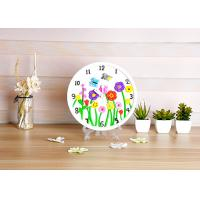 Cheap Flower Design Plaster Painting Arts And Crafts Toys With Real Clock Function wholesale