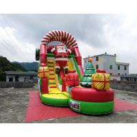 Buy cheap Santa Claus Commercial Inflatable Slide Christmas Bouncy Castle For Public from wholesalers