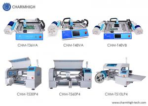 Cheap High Accuracy 6 Kinds Desktop SMT Pick And Place Machine Charmhigh PCB Assembly Line wholesale