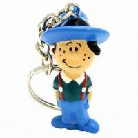 Cheap Cowboy Design PVC Keychain, 3D PVC Injected Keychain Can Be Made at Your Specifications wholesale