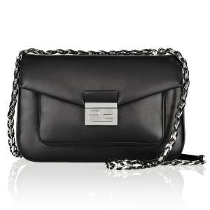 Cheap Italian Made Luxury Genuine Calf Leather Hobo Leather Handbags Silver Long Chain wholesale