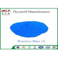 Quality Custom Textile Dyes And Chemicals Reactive Blue 14 Light Fastness 4 - 5 for sale