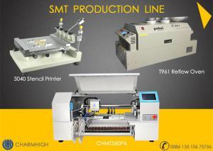Cheap High Configuration SMT Line 60 Feeders 4 Heads CHMT560P4 SMT P&P Machine / Reflow Oven T961 /  Solder Paste Printer 3040 wholesale