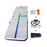 Cheap DWF Drop Stitch Fabric Gymnastic Air Track Inflatable Yoga Mat Customized Size wholesale