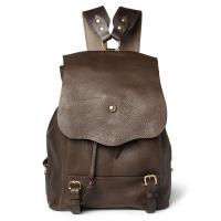 Cheap Hiking Unisex Leather Backpack Bag , Drawstring Leather Bags Made of Brown Leather wholesale
