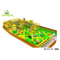 Cheap Green Yellow Color Indoor Soft Playground With Protective Web / Climbing Wall wholesale