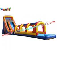 Cheap Commercial grade 0.55mm PVC tarpaulin Outdoor Inflatable Slip N Water Slides for Kids wholesale