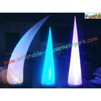 Cheap LED RGB Color Inflatable Lighting Decoration Cone Tusk Pillar 53CM x 52CM x 19CM wholesale