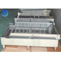 Cheap Automatic Continuous 4 Rows Stainless Steel Donut Fryer Machine wholesale