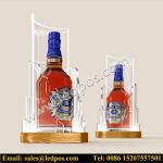 Cheap Ledpos Acrylic Chivas Bottle Glorifier with Golden Base for sale