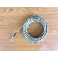 Cheap 5.2mm 7x19 Galvanized Steel Wire Rope Cable With Thimble Bright Coating wholesale