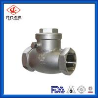 Cheap 304 SS Swing Female Check Valve High Polished Durable Corrosion Resistant wholesale