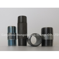 Buy cheap NPT Thread steel pipe fittings full male connection pipe nipple carbon steel from wholesalers