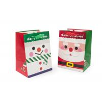 Cheap Full Color Printed Merry Christmas Gift Bags With Glitter CE Certification wholesale