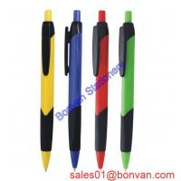 China Best selling rubber grip ballpoint pen with wide clip ideal promotional pen on sale