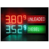 Cheap LED Gas Station Sign for Oil Price , RF LCD Wireless Remote Control Digital 7 Segment Display wholesale