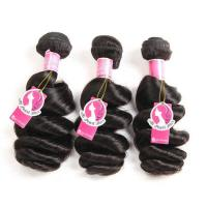 Cheap Loose Wave Brazilian Human Hair Bundles Deals , Brazilian Wave Hair Extensions wholesale