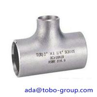 """Cheap seamless Stainless Steel Tee , single slit pipe wall thickness 1 / 2 """" NPS Sch5S to 24""""OD x30mm wholesale"""