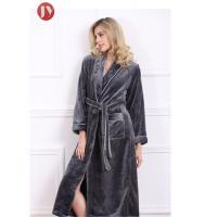 Cheap Soft Plush Long Fleece Bathrobe , Warm Thick Kimono Robes For Womens 330 Gsm Home wholesale