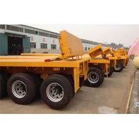 Buy cheap 3 axle skeleton container transport trailer 40/45ft chassis or flatbed private from wholesalers