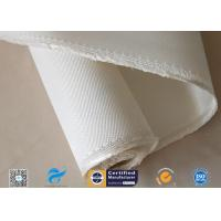 Cheap Ablation Resistance 1.3mm White Color 12HS Satin Weave 1250g High Silica Cloth wholesale