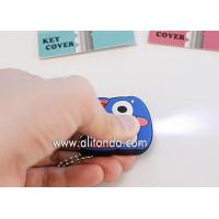 China Factory supply cartoon character pvc plastic key cover with led light on sale