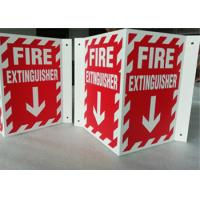 3D Triangle Mount Personalized Outdoor Metal Signs , V Sharp  Fire Extinguisher Sign